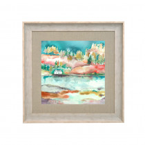 Voyage Maison Avonay Valley Autumn 68 X 68cm Framed Artwork - Birch