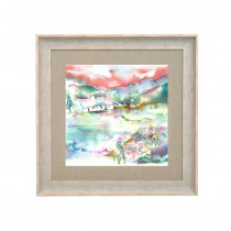 Voyage Maison Dalmore Meadows Spring 68 X 68cm Framed Artwork - Birch