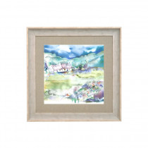 Voyage Maison Dalmore Meadows Winter 68 X 68cm Framed Artwork - Birch