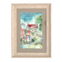 Voyage Maison Portree Cottages 70 X 52cm Framed Artwork - Birch