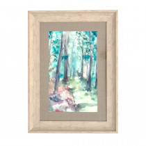 Voyage Maison Into The Woods Spring 70 X 52cm Framed Artwork - Birch