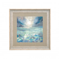 Voyage Maison Dusky Isles 68 X 68cm  Framed Artwork - Birch