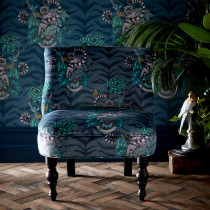 Emma J Shipley Lemur Navy Langley Chair