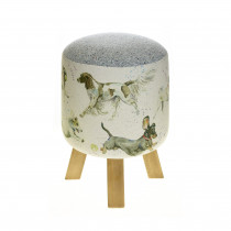 Voyage Maison Monty Footstool - Dashing Dogs