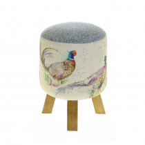 Voyage Maison Monty Footstool - Dashing Pheasants