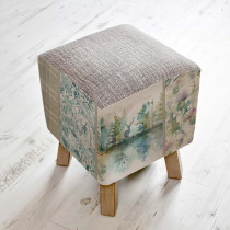 Voyage Maison Toby Footstool - Wilderness Patchwork