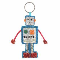 Felt Decoration Kit - Robot Keyring
