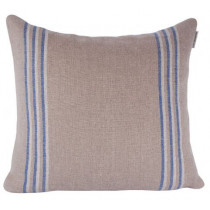 Ian Mankin Grain Stripe 40 x 40cm Cushion - Nordic Indigo