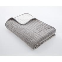 Oasis Velvet Throw - 135 x 200cm - Grey