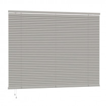 25mm PVC Slat Venetian Blind 160cm Drop - Grey