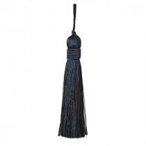 Metallics Key Tassel - Black