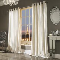 Iliana Oyster Eyelet Lined Curtain