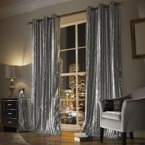 Iliana Silver Lined Eyelet Curtain