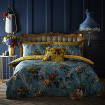 Clarke And Clarke Leighton Duvet Set - Teal