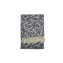 Emma Bridgewater Love Throw - Grey