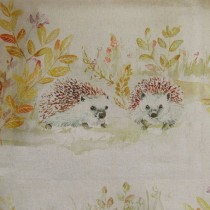 Voyage Mr And Mrs Hedgehog Fabric - Linen