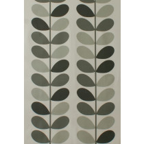 Orla Kiely Multi Stem Fabric - Warm Grey