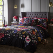 Clarke And Clarke Florianna Duvet Set - Black