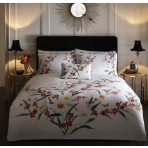 Clarke And Clarke Osaka Duvet Set - White