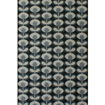 Orla Kiely Oval Flower Fabric - Cool Grey
