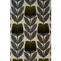 Orla Kiely Rose Bud Fabric - Moss