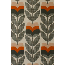 Orla Kiely Rose Bud Fabric - Orange