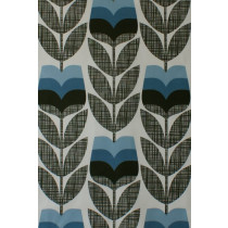 Orla Kiely Rose Bud Fabric - Powder Blue