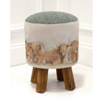 Voyage Maison Monty Highland Cattle Footstool