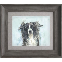 Voyage Maison Collie 38.6 X 33.6cm Framed Artwork - Smoke