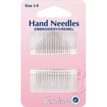 Hand Needles - Embroidery/Crewel: Size 3-9