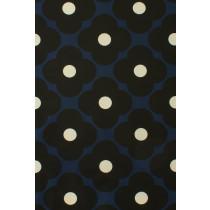 Orla Kiely Spot Flower Fabric - Dark Marine