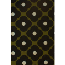 Orla Kiely Spot Flower Fabric - Seagrass