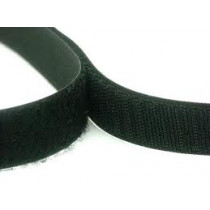 "Stick-On Hook Velcro (Black) 25mm (1"") - Price Per Metre"
