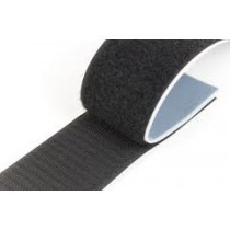"Stick-On Loop Velcro (Black) 50mm (2"") - Price Per Metre"