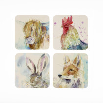 Voyage Maison Set of 4 Mixed Animal Coasters