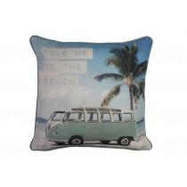 Volkswagen Take Me To The Beach 43cm x 43cm Cushion