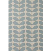 Orla Kiely Two Colour Stem Fabric - Powder Blue