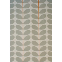 Orla Kiely Two Colour Stem Fabric - Warm Grey