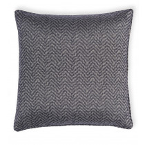 Clarke And Clarke Verona 43 x 43cm Cushion - Charcoal